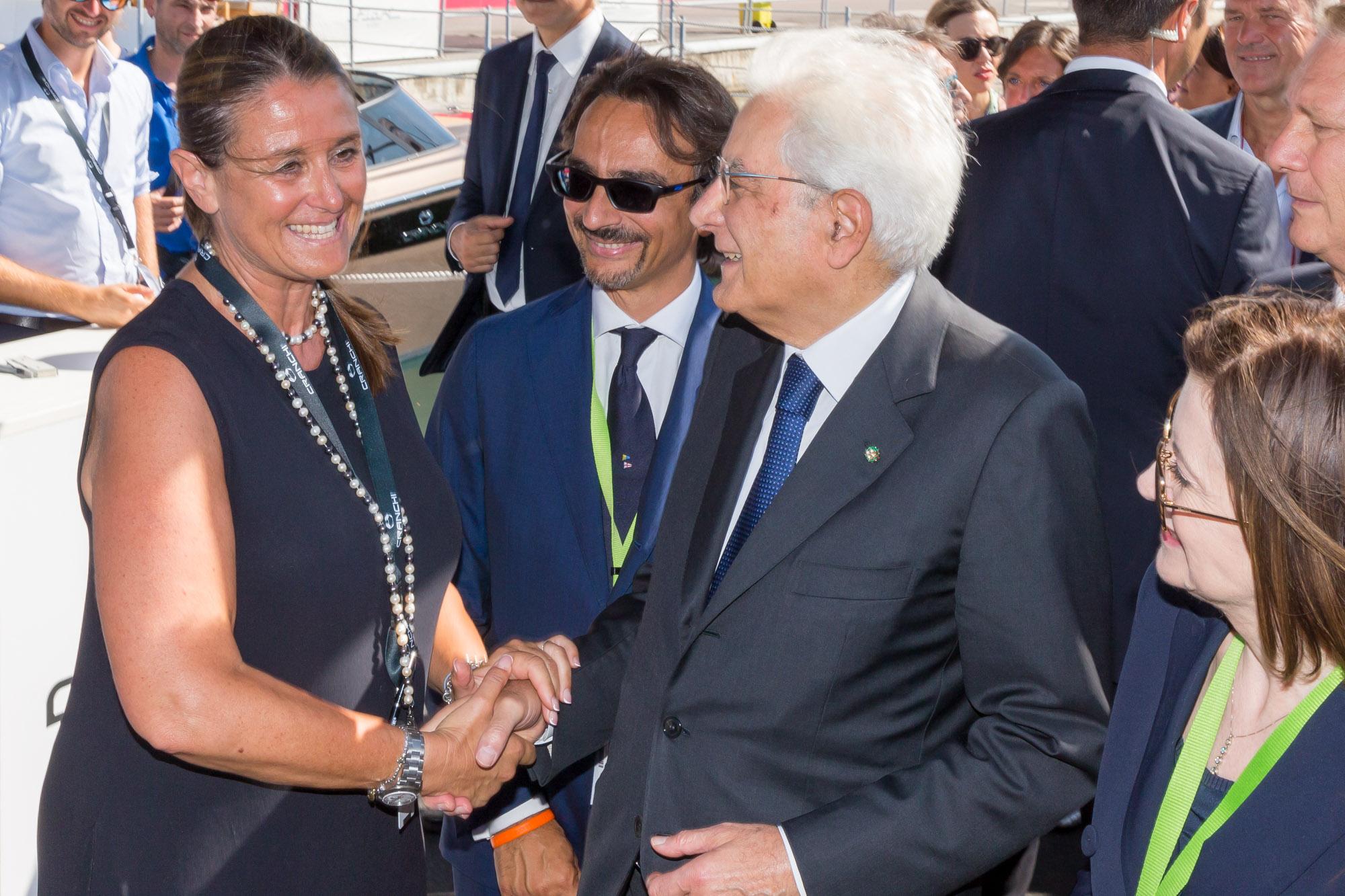 Il presidente della Repubblica Sergio Mattarella in visita al 58° Salone Nautico di Genova