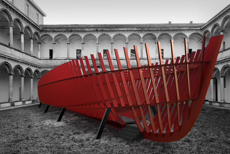 "SANLORENZO AL FUORISALONE CON ""FROM SHIPYARD TO COURTYARD"""