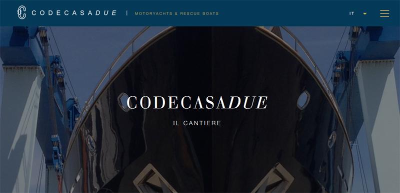 Il nuovo sito dei Cantieri Navali Codecasadue