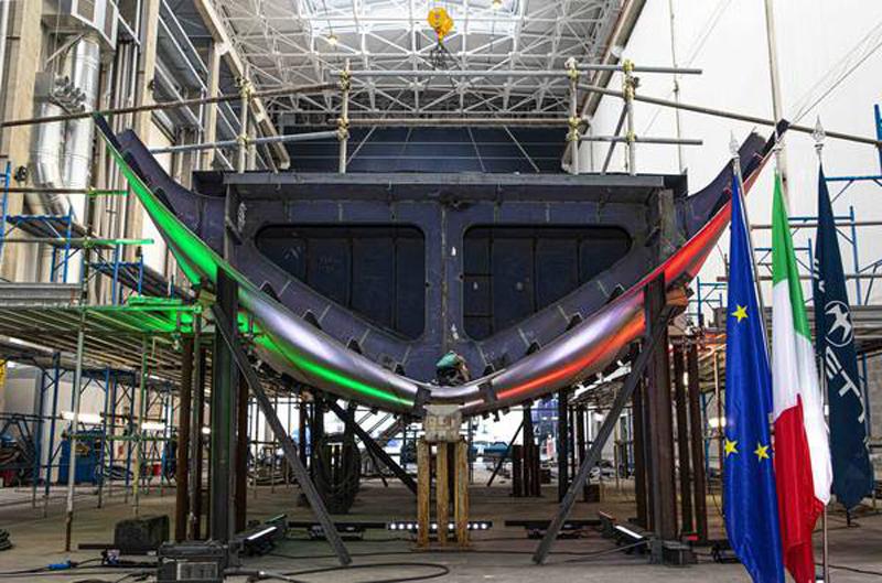 Impostata la chiglia del nuovo Baglietto 52m TLine