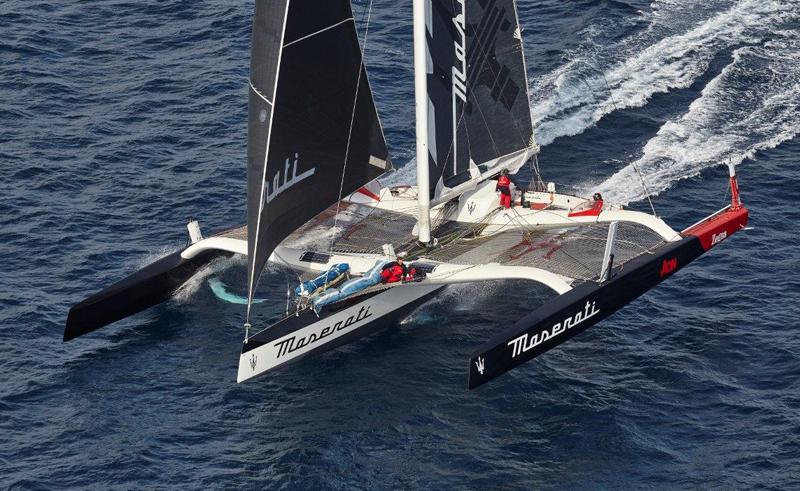 Boero YachtCoatings con Giovanni Soldini e Maserati Multi 70