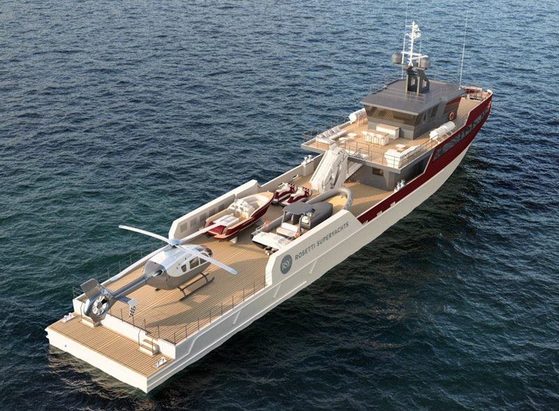 Rosetti Superyachts presenta il nuovo Support Vessel 55m